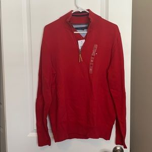 Tommy Hilfiger red quarter zip